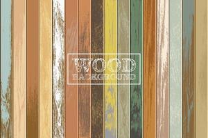 fundo de madeira vintage com cores desbotadas vetor