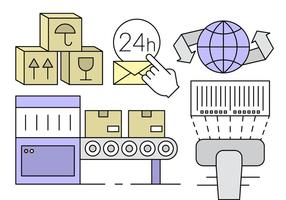 Livre Logistic Linear Elements Vector