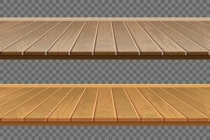 conjunto realista de piso de madeira vetor