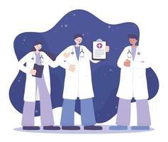 equipe profissional da equipe médica vetor