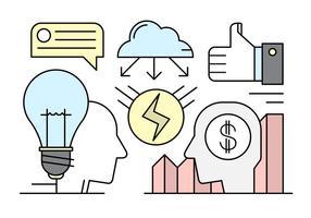 Linear Startup Ilustração no estilo Minimal