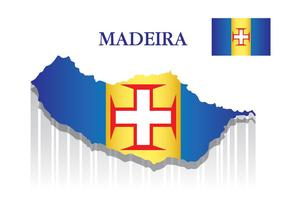 Madeira Mapa vetor