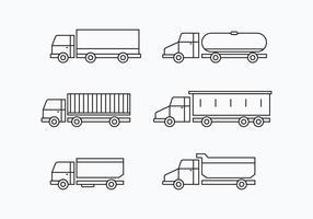 Camion Set Colecção vetor