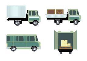 Transporte Logística Vector Set