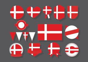 Badges dinamarqueses vetor