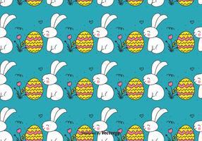 Doodle coelhinho da Páscoa e padrão Egg