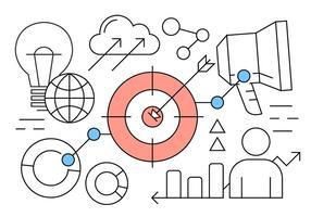 Linear Negócios Startup Elements Vector