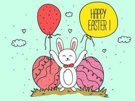 Fundo feliz Vector Easter