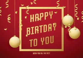 Cartão de aniversário vermelho vetor