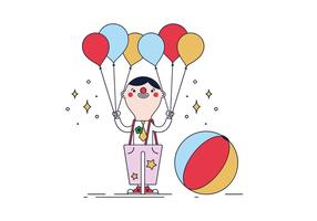 Vector livre Clown