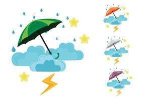 Livre a estação da monção chuvoso Ilustração vetor
