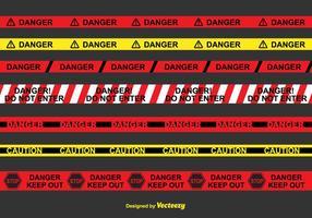 Tape perigo Vector Set