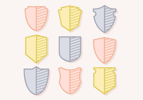 Free Vector Emblem Shields
