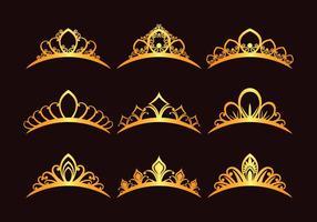 Conjunto de Princesa Tiaras vetor