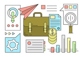 Visita grátis e ícones da finança em estilo minimalista