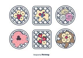 Vector doce Waffles