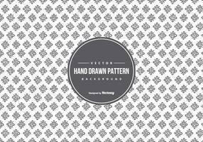 Mão bonito estilo desenhado fundo do teste padrão vetor