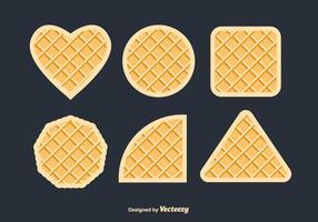 Conjunto de vetores de waffles