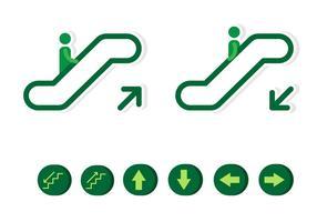 Ícone plana Escalator vetor