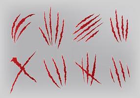 Livre de arranhões marcas ícones Vector