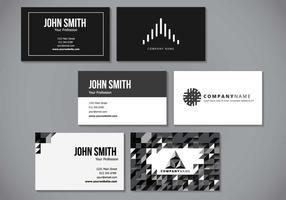 Design minimalista cartão conhecido elegante vetor