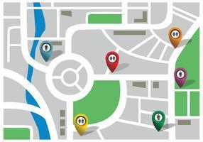 Você está aqui Vetor do mapa com ícones