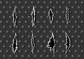 Metal marcas de arranhão Vector grátis