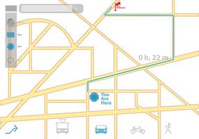Aparência GPS e ícones vetor