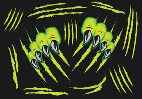 Monstros Garra Scratches vetor