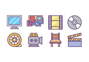 Pacote gratuito de ícones de filmes vetor
