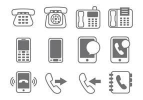 Free Vector Telephone Elemento