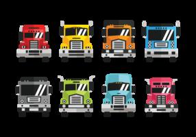 Vector de ícones de camion