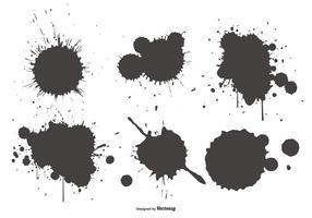 Coleção Shapes Splatter vetor