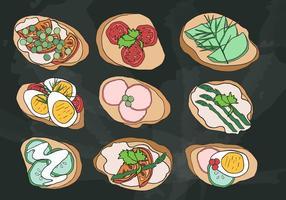 Cenapes buffet vector