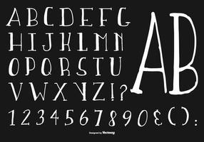 Coleção Alfabeto Desenhado Mão vetor