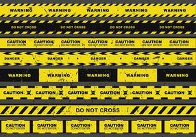 Grunge Danger Vector Tape