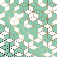 projeto padrão sem emenda com linhas geométricas douradas vetor