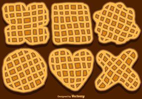 Jogo do vetor de Hand-Drawn Bélgica Waffles