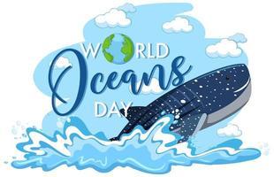 ícone do dia mundial dos oceanos