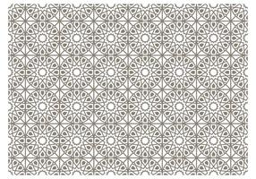 Teste padrão cinzento Vector Islamic