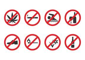 Vetor Proibidas Signs