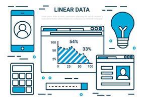 Elementos de dados vetoriais livre Digital Linear vetor