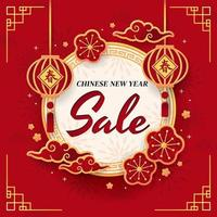 pôster de liquidação de feriado do ano novo chinês vetor