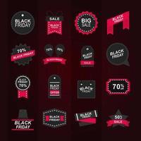 coleção de ícones de venda de sexta-feira negra