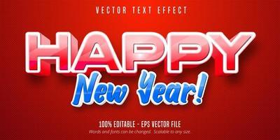 efeito de texto feliz ano novo vetor