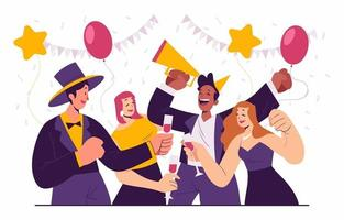 festa divertida de ano novo