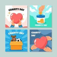 compilações de cartões de caridade vetor