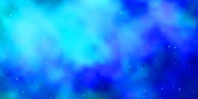 modelo azul com estrelas.