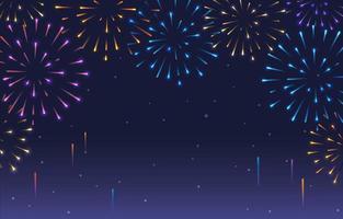 fundo de fogos de artifício colorido vetor
