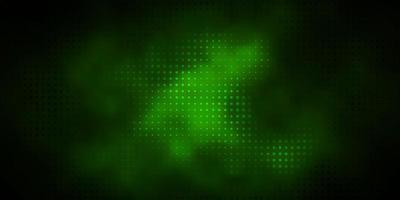 textura verde escura com círculos. vetor